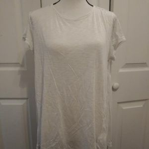 Mustard Seed White high low Shirt Size M NWT